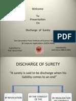 Discharge of Surety