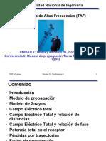 6 Modelos de propagación Tierra Plana (2-rayos)