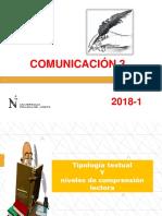 D1-Tipología Textual y Niveles de Comprensión Lectora