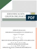 Identificación grupos orgánicos