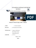 Informe de Planta de Tto de Agua Potable de Seda Huanuco
