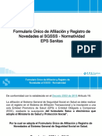 Presentacion Formulario Unico EPS