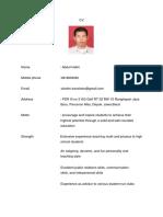Physics and Math Teacher Abdul Halim CV