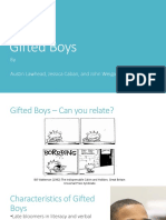 special populations - gifted boys