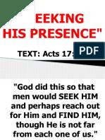 SEEKING HIS PRESENCE.pptx