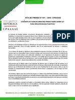 COMISIÓN DE PUEBLOS DEBATIRÁ PREDICTAMEN SOBRE LEY PARA REDUCIR BOLSAS PLÁSTICAS