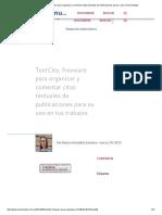 TextCite, freeware para organizar y comentar citas textuales de publicaciones para su uso en tus trabajos.pdf