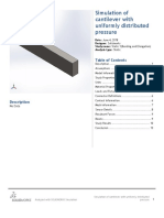 Cantilever With Uniformly Distributed Pressure-Static 1(Bending and Elongation)-1