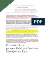 Hacia Un Embate de Masas Entre Fujimorismo y Antifujimorismo