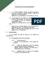 Reglas Formales Para Citar Jurisprudencia