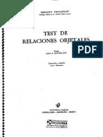 Test de Relaciones Objetales. Manual Completo.