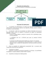 Matéria Prima - Orçamento e Controladoria.doc
