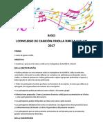 Bases Canto Criolllo 2017