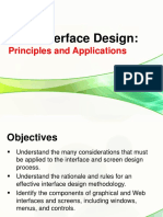 UI Design Principles and Application