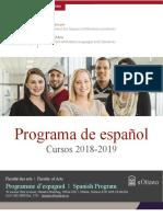 UOttawa - Spanish Program Brochure 2018-2019
