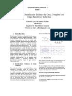 Simulacion Rectificador Trifasico de Onda Completa