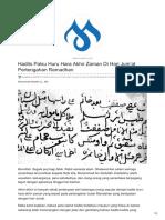 Muslim.or.Id-Hadits Palsu Huru Hara Akhir Zaman Di Hari Jumat Pertengahan Ramadhan