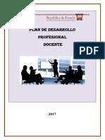 Plan de Formacion Docente 2017