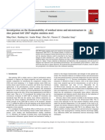 Investigation on the Thermostability of Residual Stress and Microstructure in Shot Peened SAF 2507 Duplex Stainless Steel