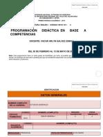 Formato Planificacion Ingles 1 2018