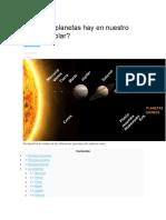 Cuántos Planetas Hay en Nuestro Sistema Solar