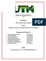 Gerencia Estrategica Proyecto Final de La Clase (Plan Estrategico) (2)