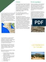 Triptico-Las pirámides de Túcume