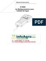 Instrucciones Medidor Calidad Agua Hi9828