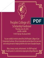 Peoples College of Law Scholarship Fundraiser