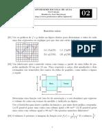Atividades de Pré-Cálculo