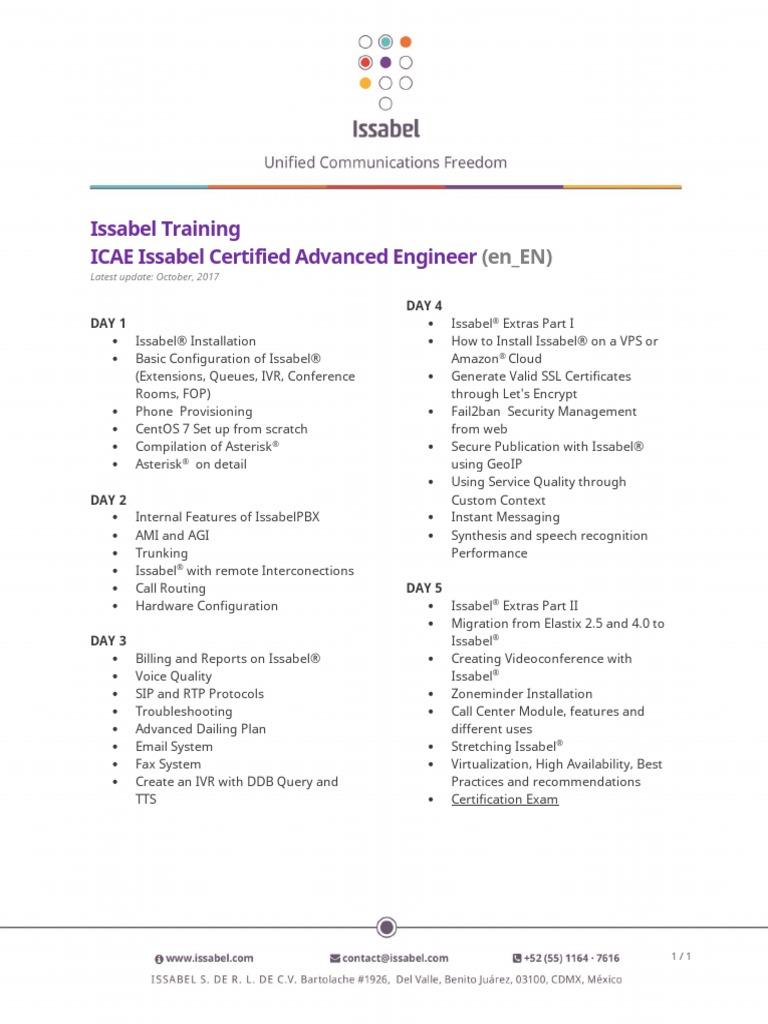 Temario-Issabel-ICAE-V1 0-EN
