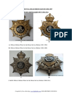 obli regimental head dress badges 1882-1967