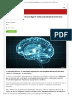 Dependência de 'Memória Digital' Está Prejudicando Memória Humana, Diz Estudo - BBC Brasil