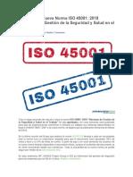 Aprobada La Nueva Norma ISO 45001