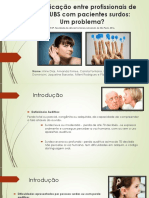 Comunicação Entre Profissionais de Uma UBS Com Pacientes