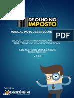 Manual de Olho No Imposto 0 13 - Desenvolvedores