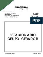PK 4.236 T4.236 Estacionário Grupo Gerador CATALOGO PÇS