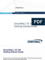 SonicWALL TZ 190 Getting Started Guide