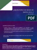 Laboratorio de Bases de Datos 2015-2