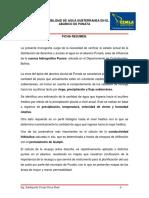 Disponibilidad de Agua Subterranea en Elabanico de Punata-f