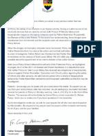 Priory Letter