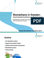 28.0 Biomethane in Sweden - Governmental Incentives and Market Trends (2012)