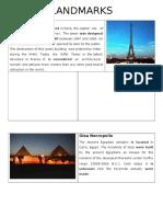 Monuments Landmarks 5th Year