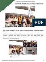 27-01-2017 Inaugura Gobernador La Primaria Partido Revolucionario Institucional.