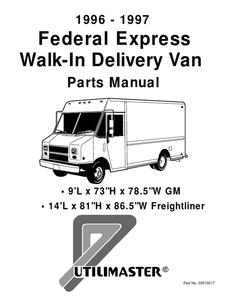 Utilimaster Wiring Schematic Wipers Trusted Diagram Freightliner 96 97 Fedex Express Body Parts Manual Automobiles Wheeled Vehicles