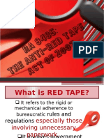 Anti Red Tape ACt PowerPoint presentation