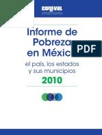Informe de Pobreza en Mexico 2010