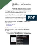 Recupera El IMEI de Tu Teléfono Android