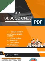 6.3 Deducciones