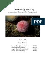 echinoderm conservation